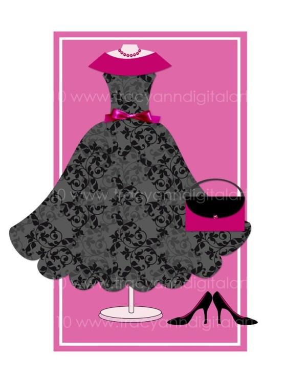 Little Black Dress Clip Art