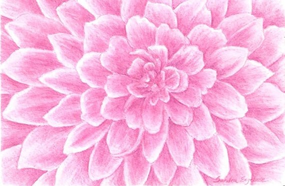 Items similar to Monochromatic Pink Dahlia Flower