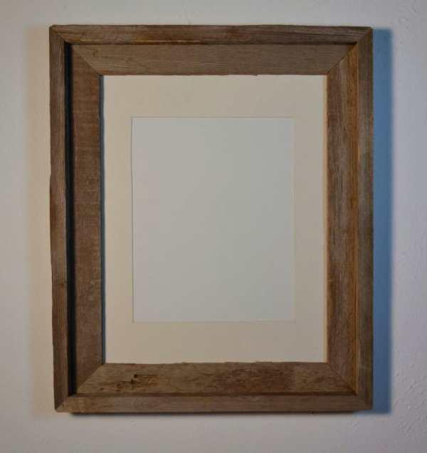Barnwood Frame 11x14 With 8x10 Cream White Mat Barnwood4u