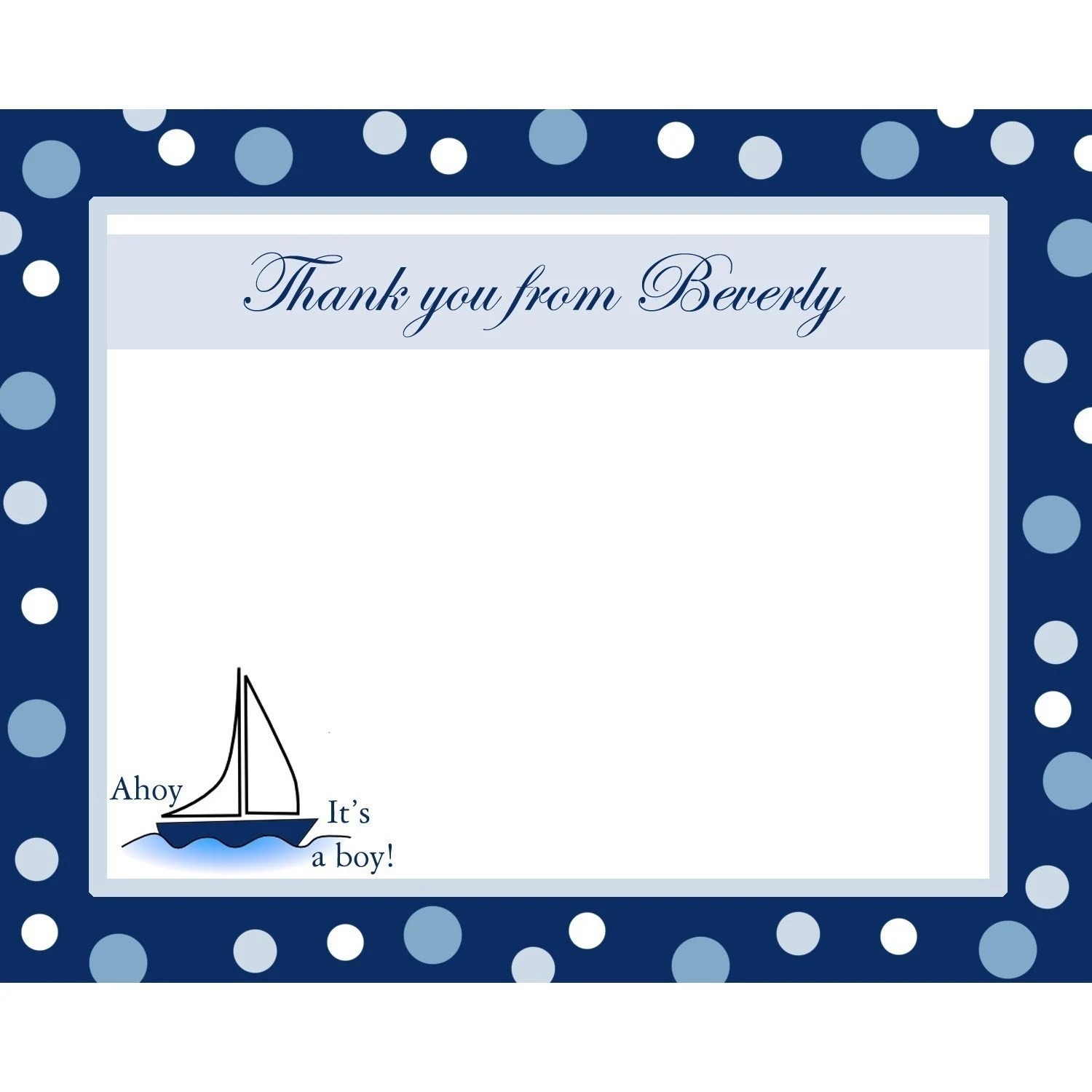 Etsy Baby Shower Thank You Cards