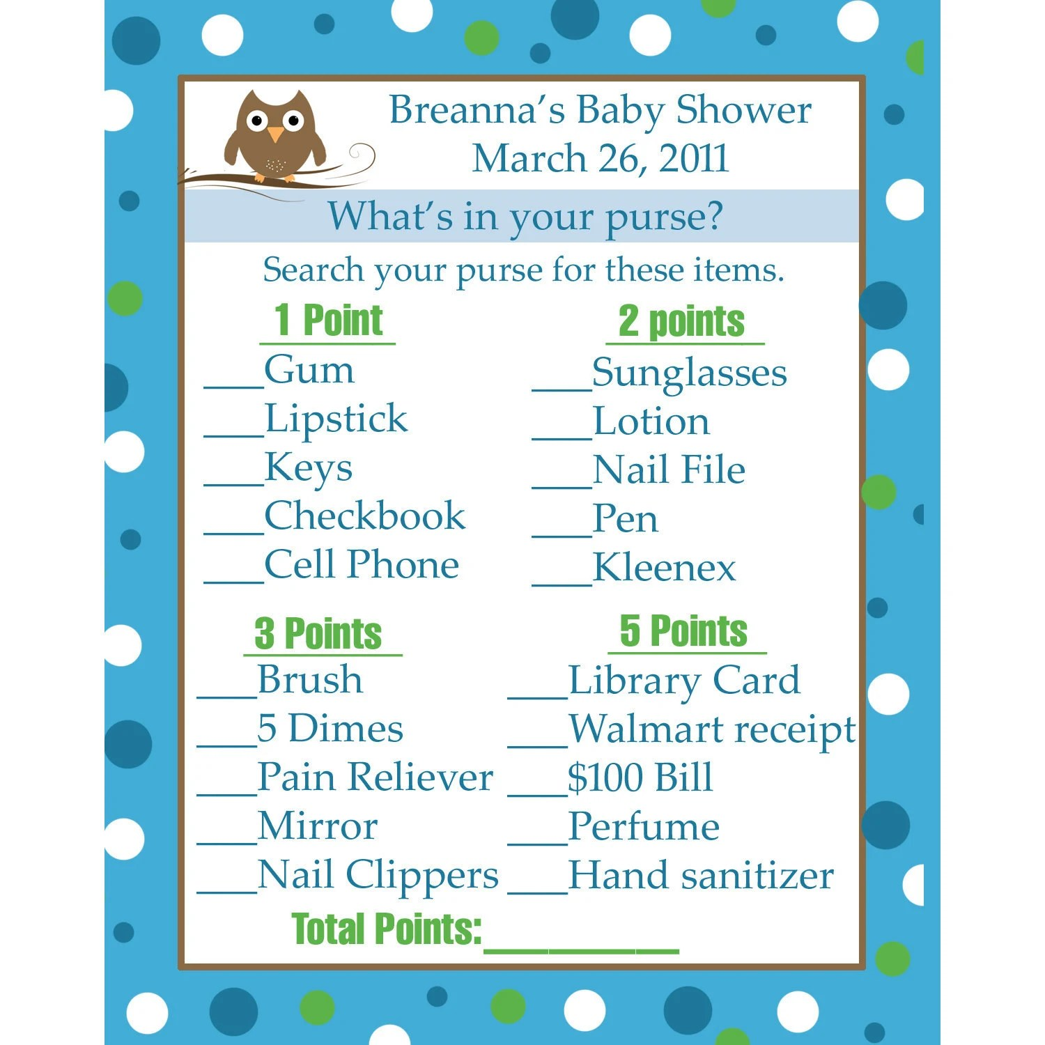 24 Personalized Baby Shower Game Cards What S In By Partyplace