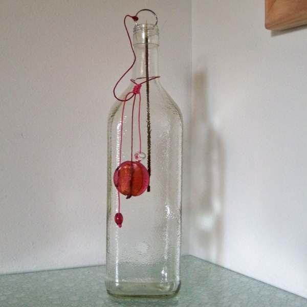 Incense Burner Recycled Glass Rumplemintz Bottle