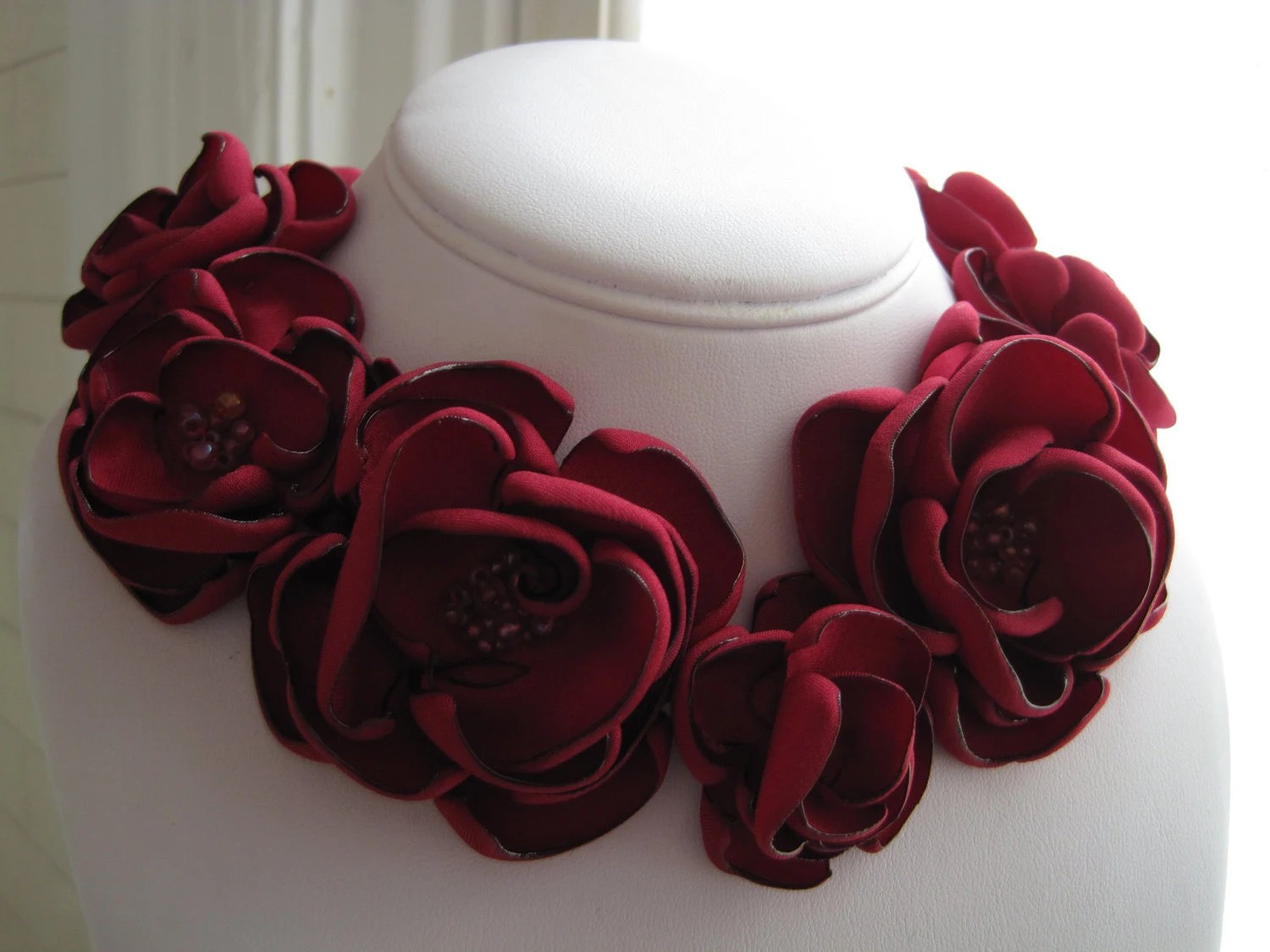 Fabric Flowers Made Out Satin