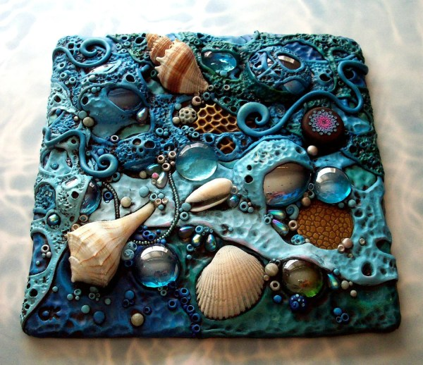 Polymer Clay Mosaic Tile Art