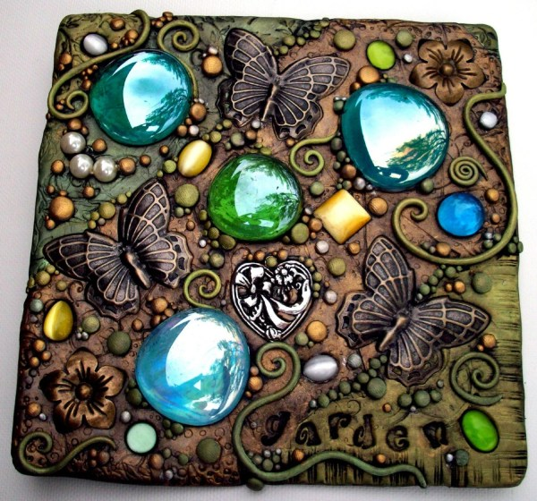 Butterfly Garden Mosaic Tile Polymer Clay