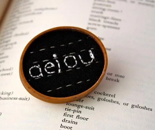 aeiou brooch lower case letters font hand embroidery pin back to school or teacher gift - Waterrose