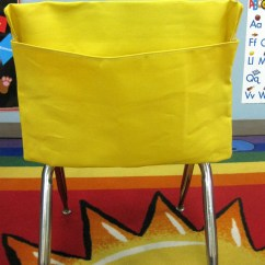 Chair Pocket Organizer Baby Seat In Car 1 Small Yellow Classroom Pockets Sacks Desk