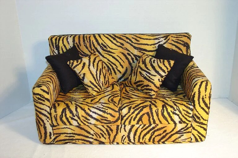 red accent pillows for sofa what color goes with dark brown carpet 18 inch doll furniture tiger print modern