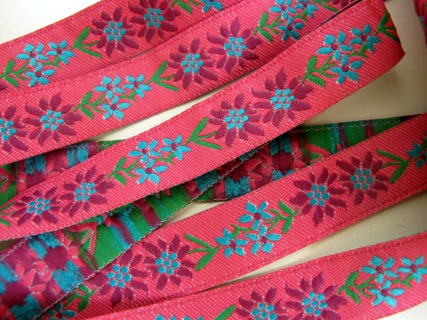 3 Yards Double Edelweiss Jacquard Fabric Ribbon Trimgoddess