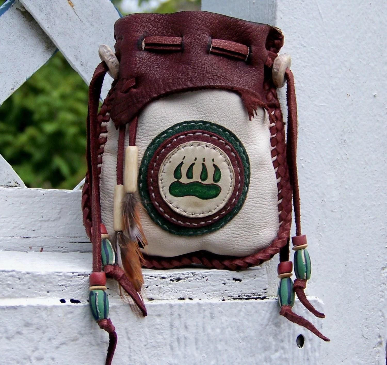 Wolf Native American Style Medicine Bag