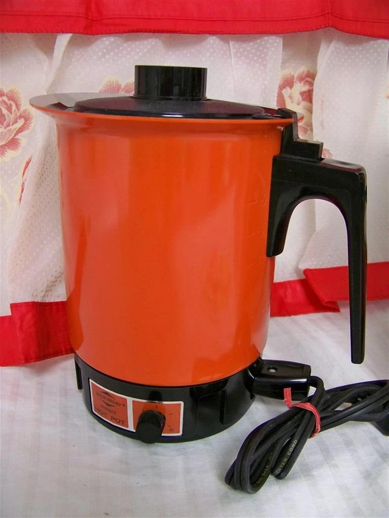small kitchen appliance best cabinets this vintage red electric hot pot rocks the 80's by snogirl