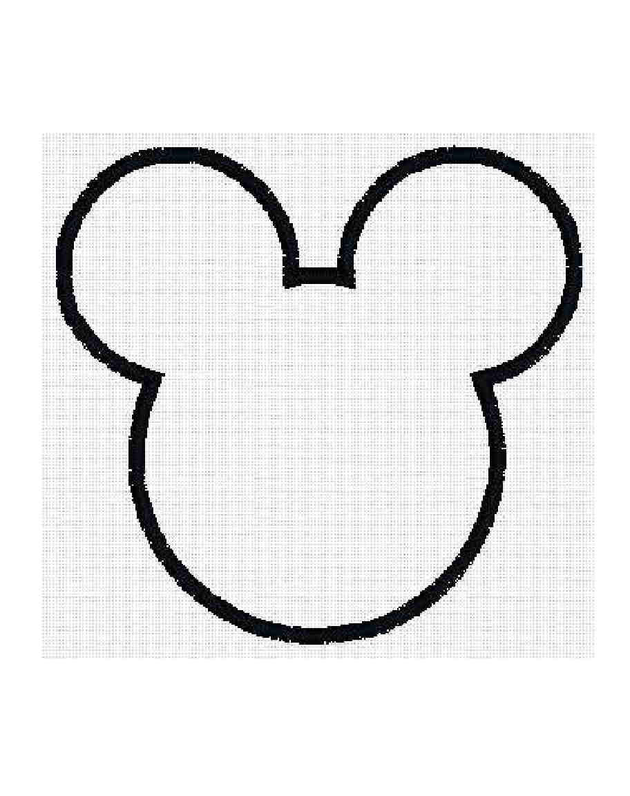 INSTANT Download Mouse Ears applique fill by