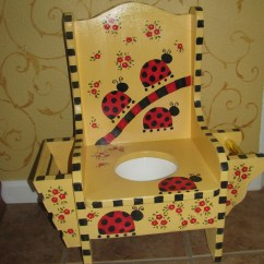 Childrens Potty Chairs Rattan Restaurant Children 39s Chair Ladybug Magazine Holder And