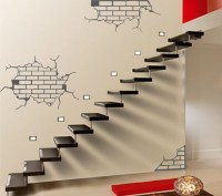 ShaNickers Wall Decal/Sticker Exposed BricksFREE SHIPPING