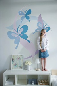 Kids Bedrooms, Small Bedrooms, Butterflies Murals ...