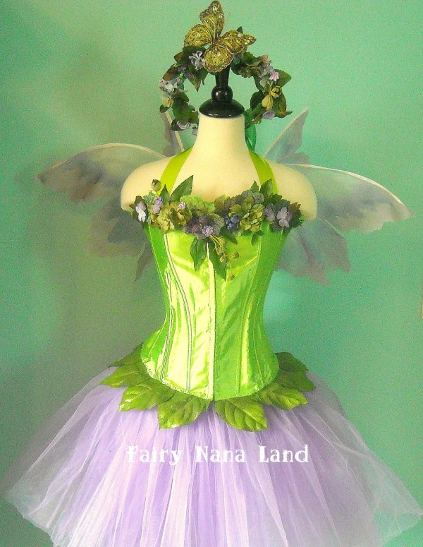 Items Similar Adult - Teen Fairy Costume Woodland Faerie With Violets And Butterfly