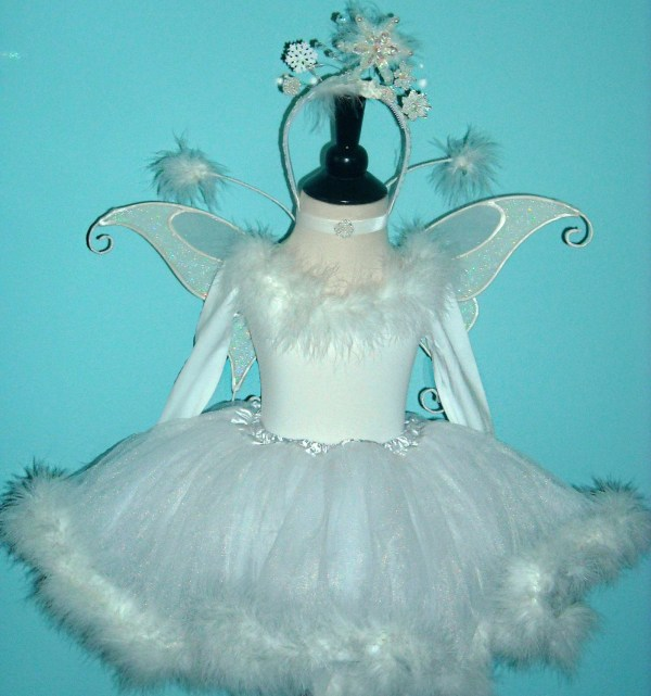 Items Similar August - Winter Fairy Snow Costume Child' Size 4 6 Marabou