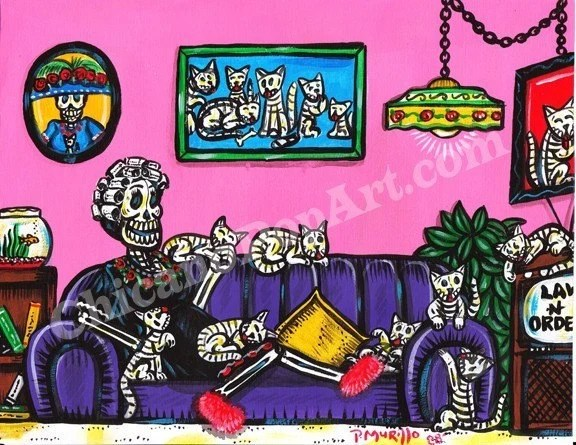 Day of the Dead Cat Lady ...