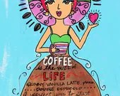 AFFIRMATION PRINT: Coffee...