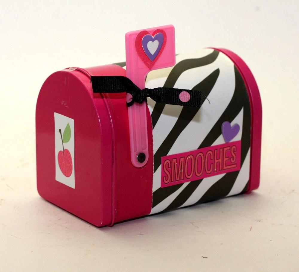 Valentines Day Mailbox Mail Box Pink With Zebra Print