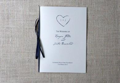 Wedding Programs With Ribbon