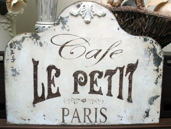 Shabby Signs Cafe French Paris Chippy Vintage Chic