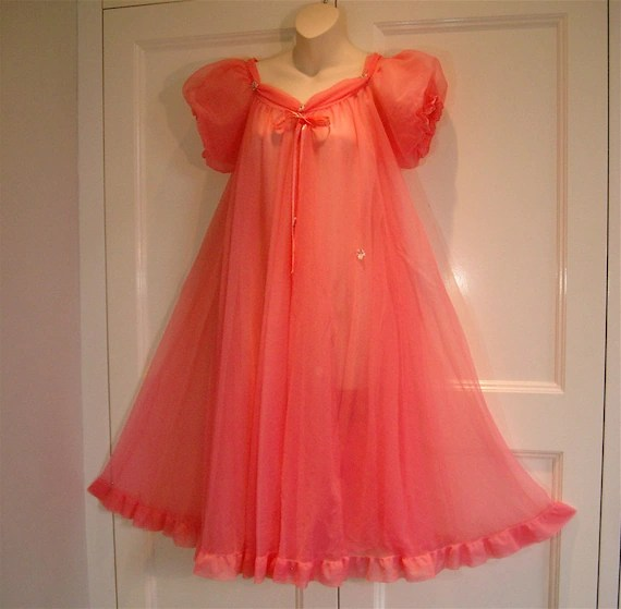 Divine Full Circle Frothy Double Sheer Chiffon Bright Coral