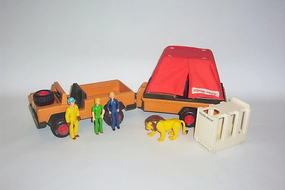 Vintage Fisher Price Adventure People Wild Animal Safari