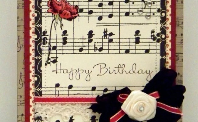 Items Similar To Happy Birthday A Music And Roses Notecard