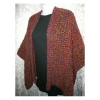 Crochet Shawl Pattern Crochet Ruana Wrap PDF by crochetgal