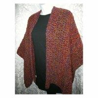 Crochet Shawl Pattern Crochet Ruana Wrap PDF by crochetgal