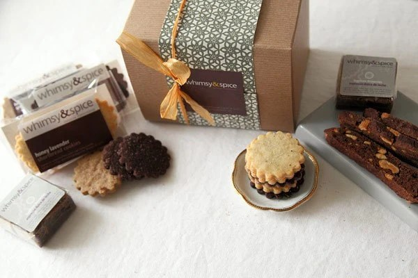 Whimsy and Spice Classic Sampler Cookie Gift Box - cookies, biscotti, brownies - whimsyandspice