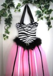 zebra hot pink animal print hair