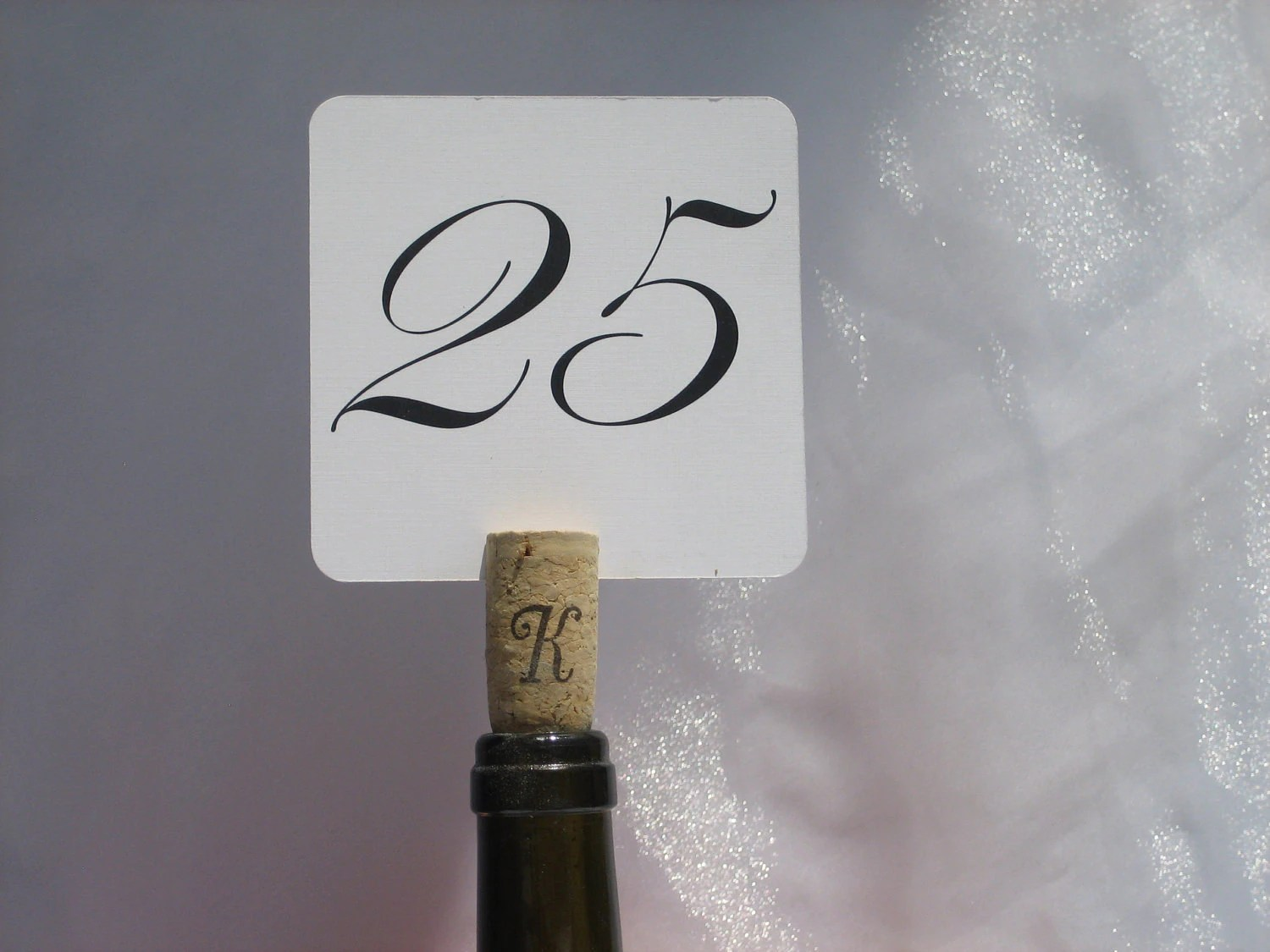 Initial Monogram Wine Cork Table Numbers/Cards Holder For Wine