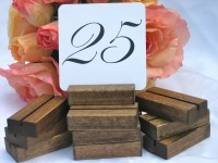 Rustic Wedding Wood Table Number Holders Set of 25 by