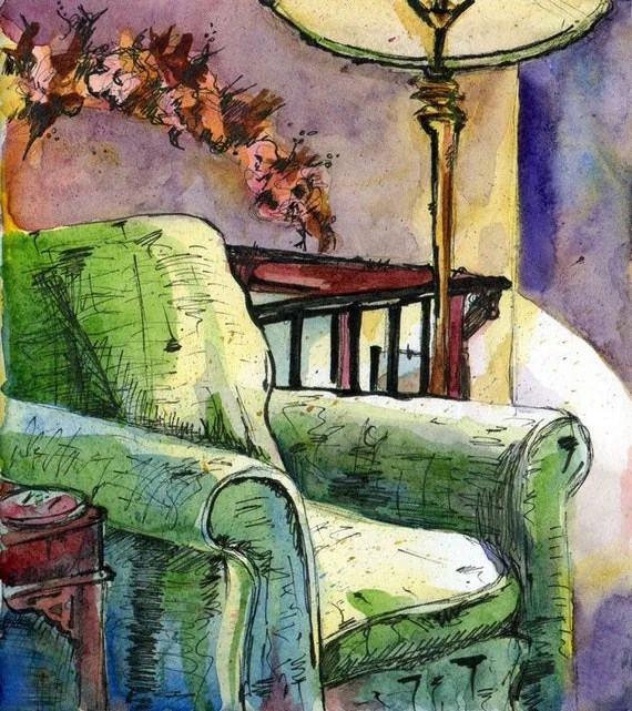 Watercolor Painting Chair