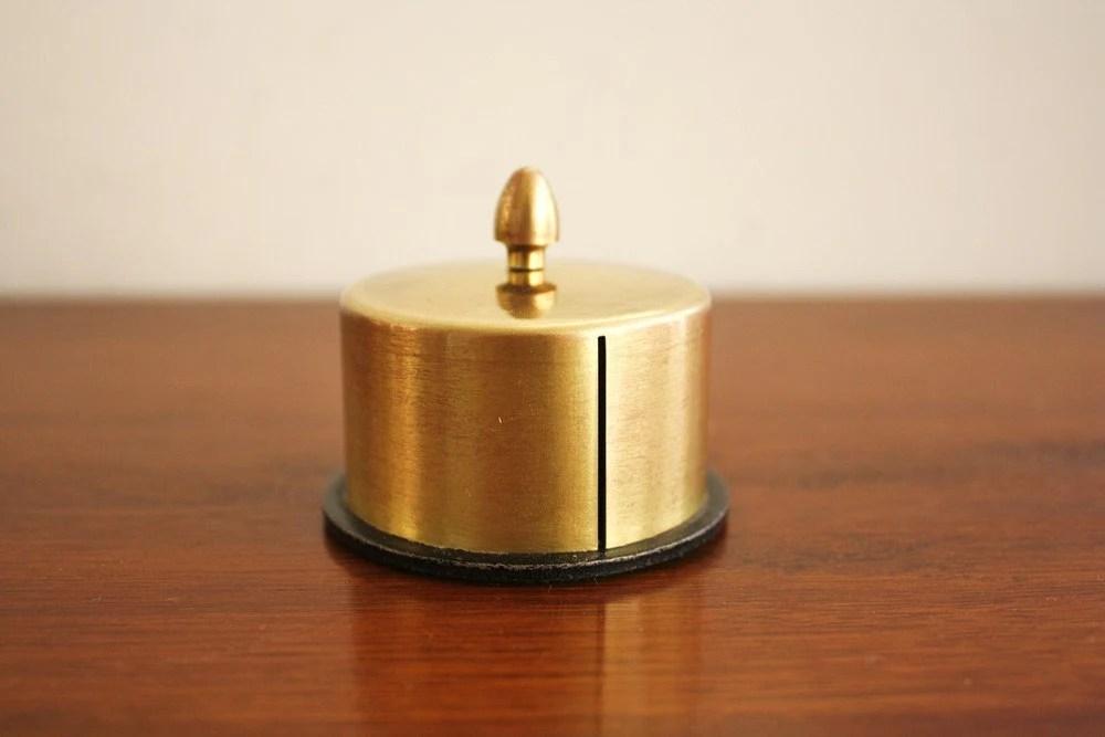 Vintage brass stamp dispenser desktop stamp holder