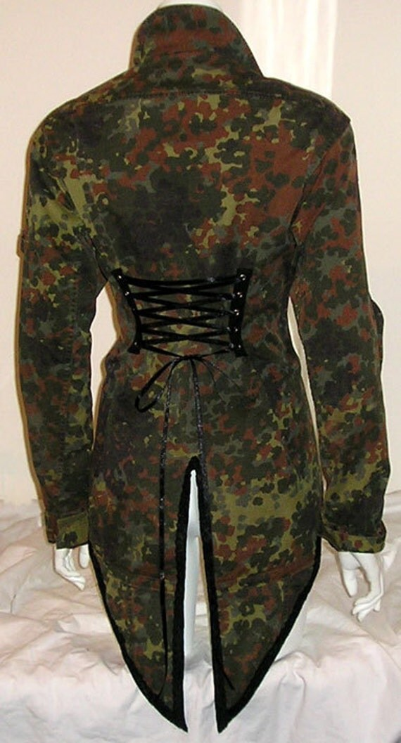 Camouflage Corset Jacket Tailcoat Tux Tails Military Army