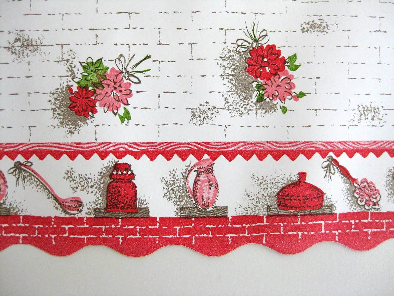 Floral Kitchen Wallpaper Border Wide Unused Roll SALE