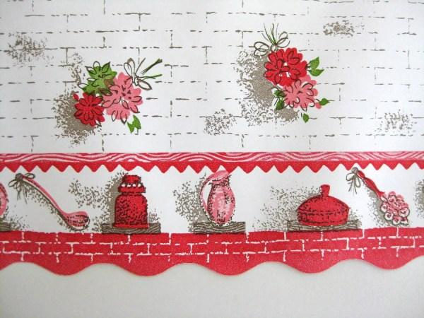 Floral Kitchen Wallpaper Border Wide Unused Roll