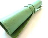 Leather Pencli Case Wrap, MInt Green - susanholland