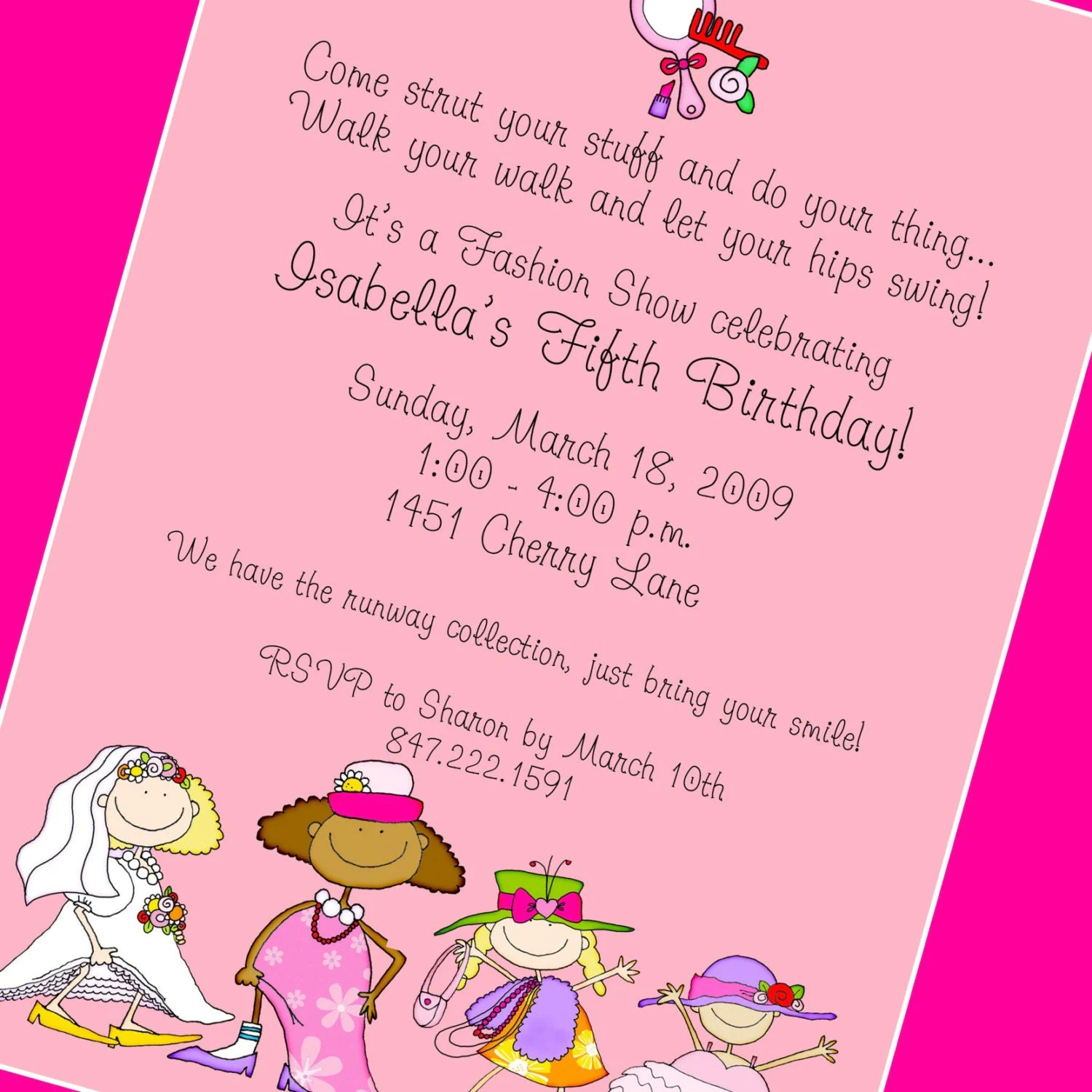 Dress Up Party Invitation Custom Wording 12 Invitations And