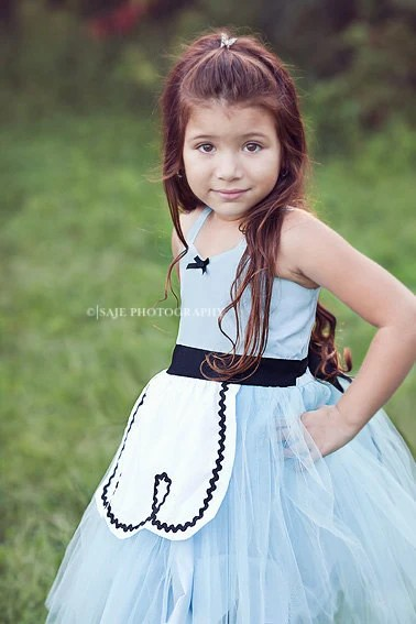 ALICE IN WONDERLAND dress retro Alice costume tutu dress for girls special occasion or tea party costume - loverdoversclothing