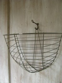RESERVED 3 wire plant BASKETS wall hanging