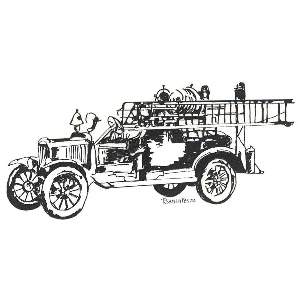 Vintage Fire Engine Coloring Pages, Vintage, Free Engine