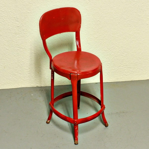red kitchen stools Vintage stool Cosco kitchen stool chair red metal