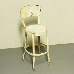 Cosco Kitchen Stool Chair Conference Room Vintage White Metal