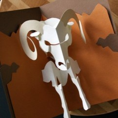 Origami Diagram Com 240 Volt Relay Wiring Kirigami Ram Aries Pop-up Card Make Yourself