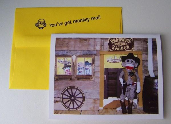 Funny Western Cowboy Birthday Card Monkey Moments B20