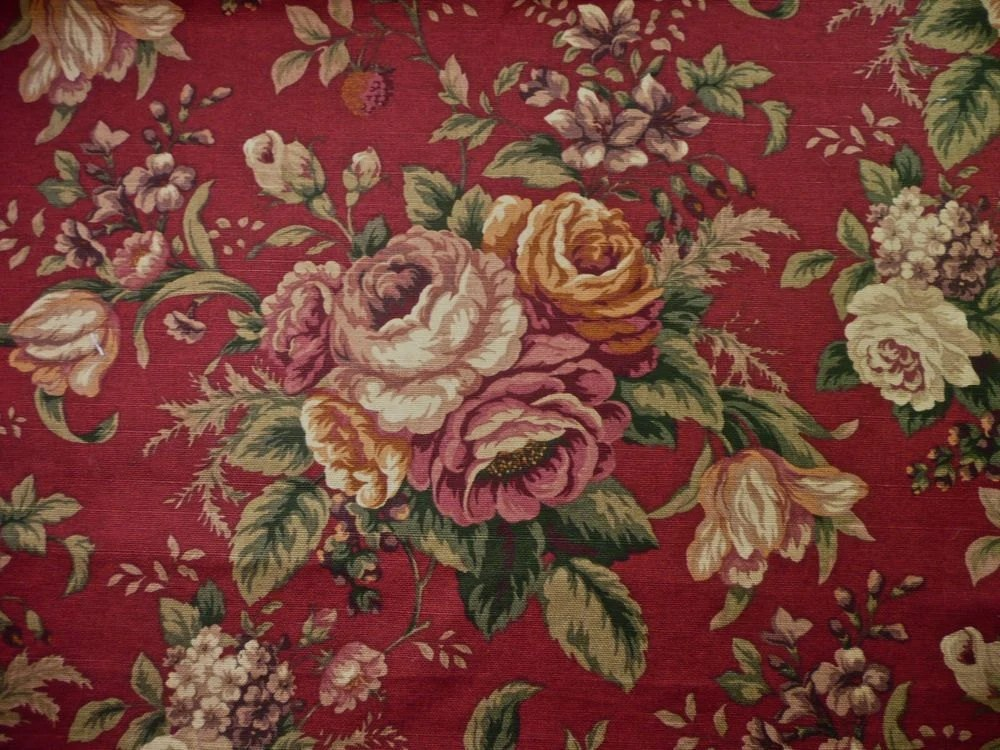 Dark Vintage Red Fabric Upholstery